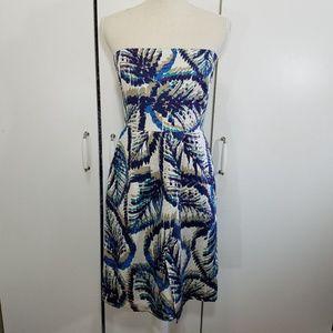 banana republic size 10 silk strapless dress